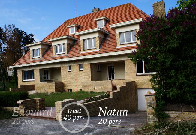 Villa edouard en et villa natan 40 pers villa nieuwpoort - Outs allee tuin ...